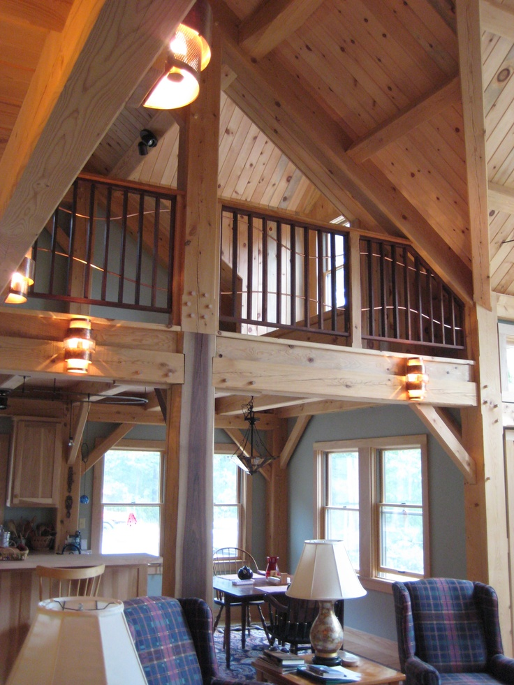 new timber frame home interior for the home pinterest