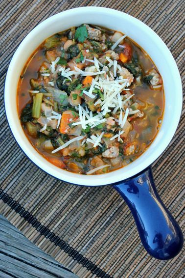 sausage kale white bean soup and 12 Favorite Fall Recipes