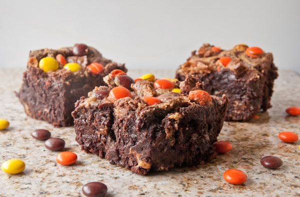 gluten free treat! Fudgy, rich flourless triple chocolate brownies ...