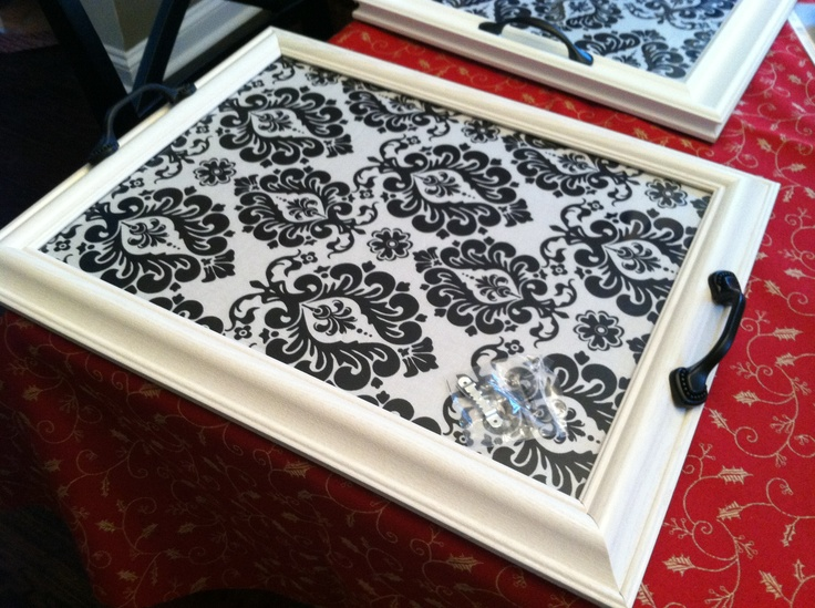 diy picture frame tray spring activities pinterest
