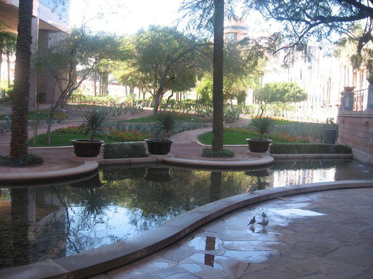 Phoenix az arizona center garden arizona pinterest for Garden fountains phoenix