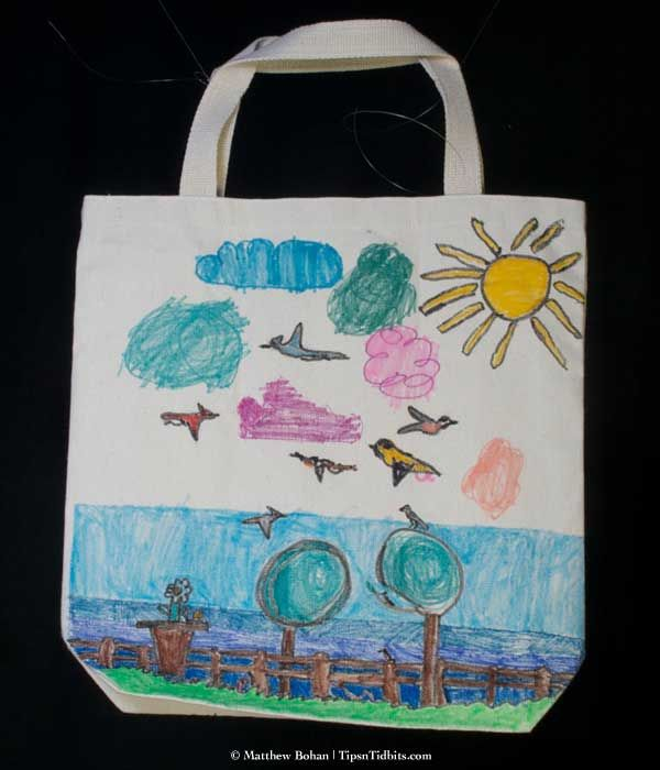 Canvas bag decor idea for girls girl scout ideas pinterest Ideas for hanging backpacks