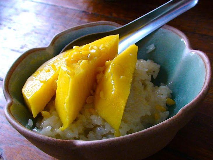 Mango Coconut Rice Pudding Recipe | Dessert-non chocolate | Pinterest