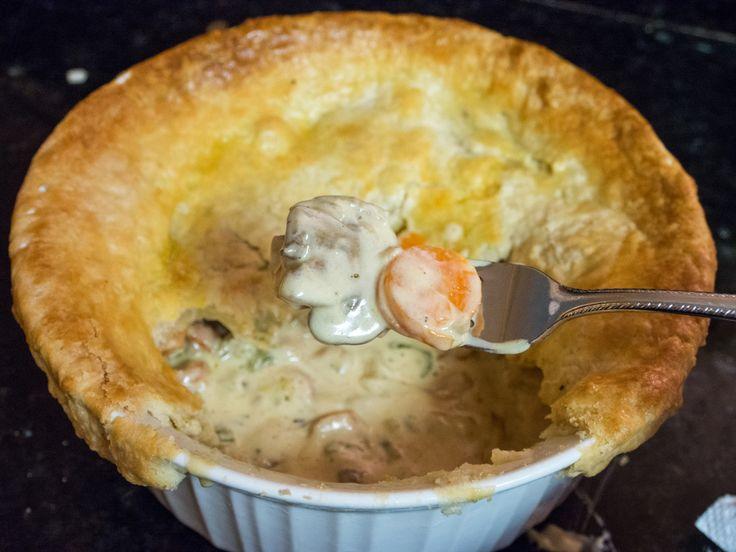 Chicken pot pie recipe with real cream | nomnomnomnom | Pinterest