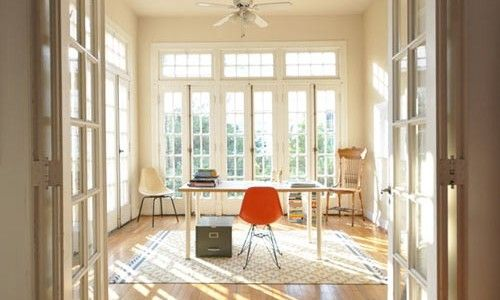 Pin by gail pacious on colonial homes pinterest for Sunroom office design