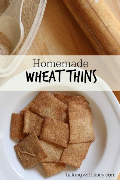 Homemade Wheat Thins | food-make at home | Pinterest