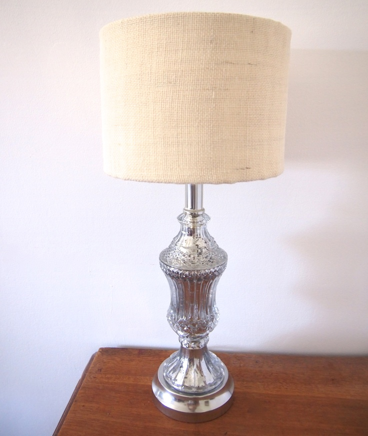 Diy mercury glass lamp with burlap shade cool ideas pinterest - Cool lamp shade ...