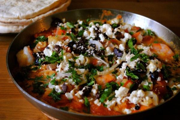 Garides Saganaki (Greek Shrimp Saganaki)   Seafood   Pinterest