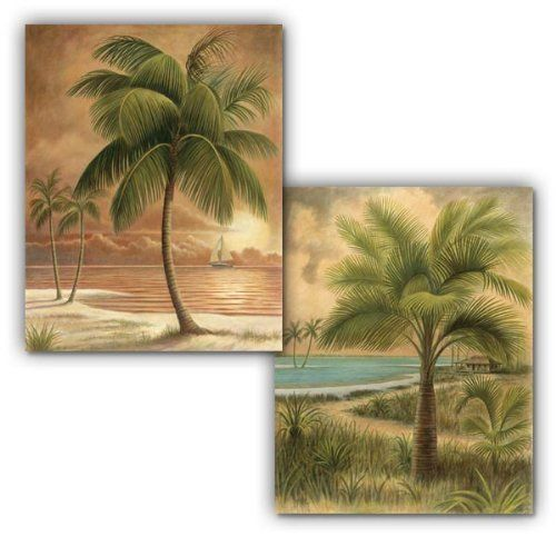 palm tree prints 8x10 beach sunset wall art decor free ship. Black Bedroom Furniture Sets. Home Design Ideas