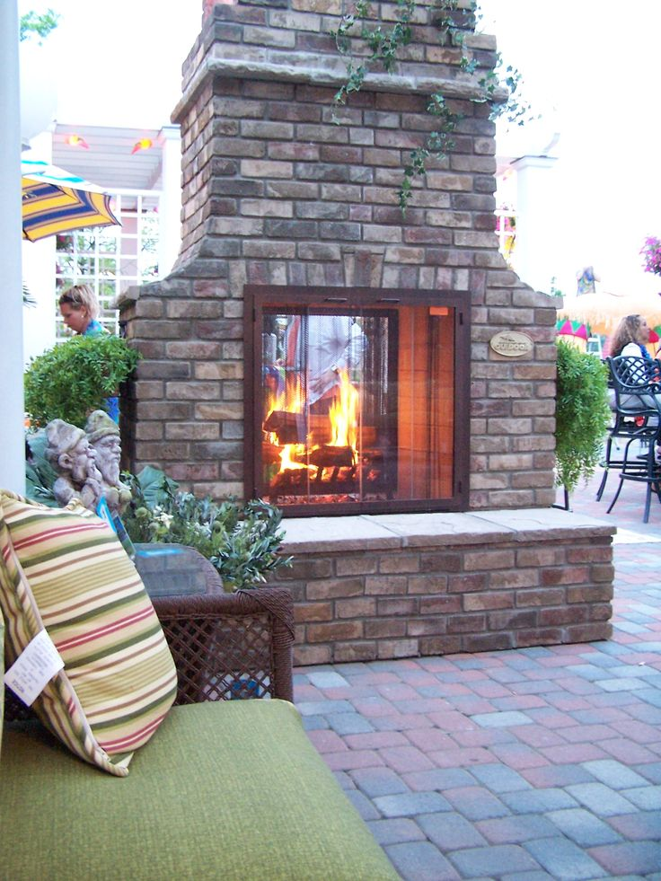 2 Sided Outdoor Fireplace Mi Casa In The Sky Pinterest