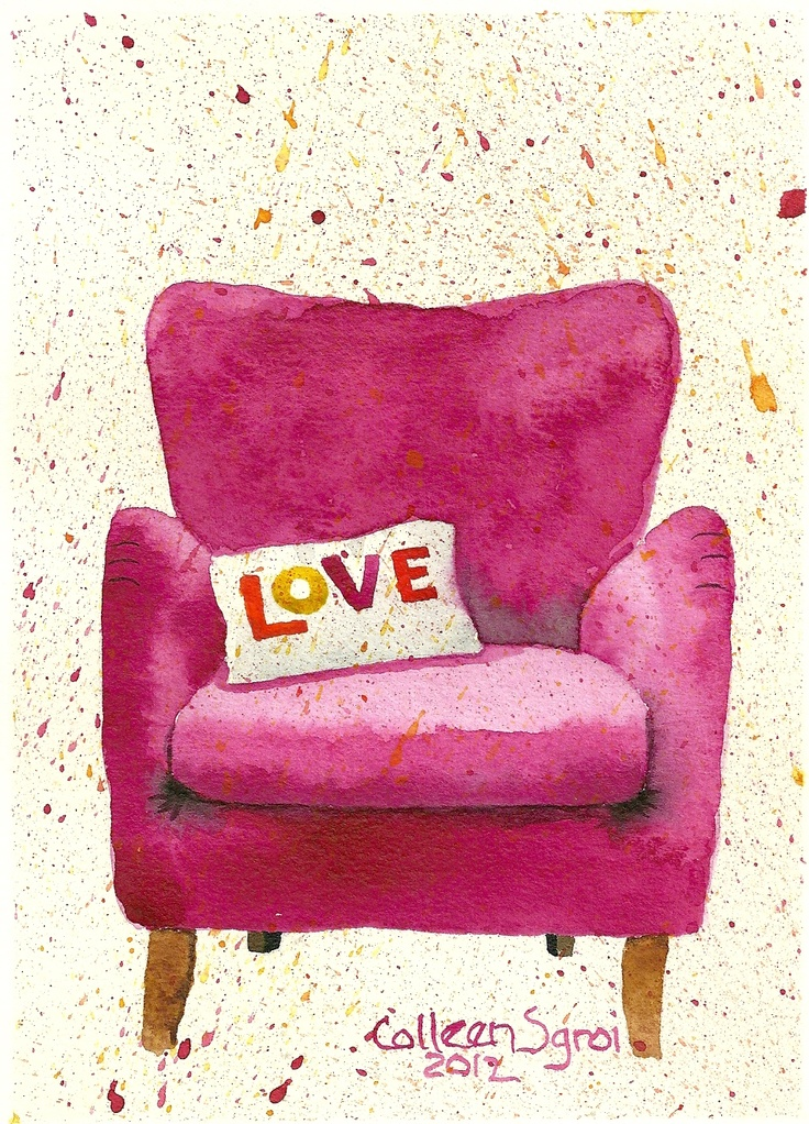 Fuchsia Love Chair