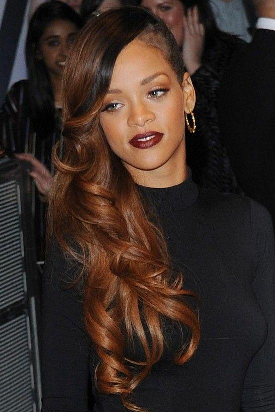 Rihanna hair styles. Like the hair color | Morenas | Pinterest