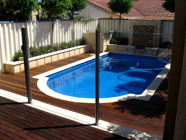 glass fencing around pool gardens pinterest