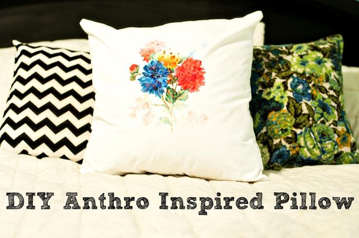 DIY pillow print