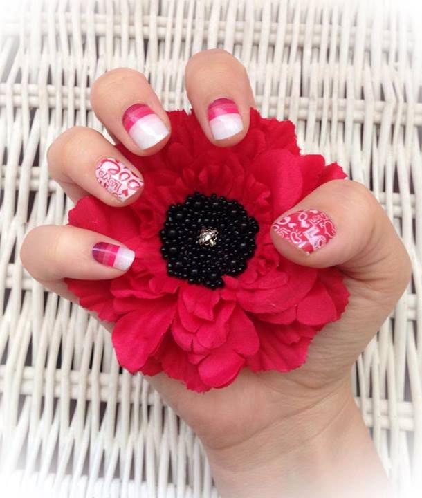 valentine's day jamberry nails