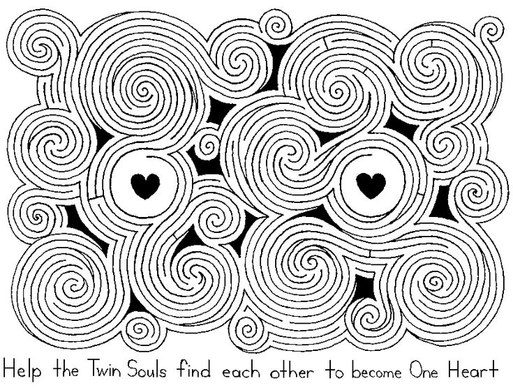 valentines day heart maze