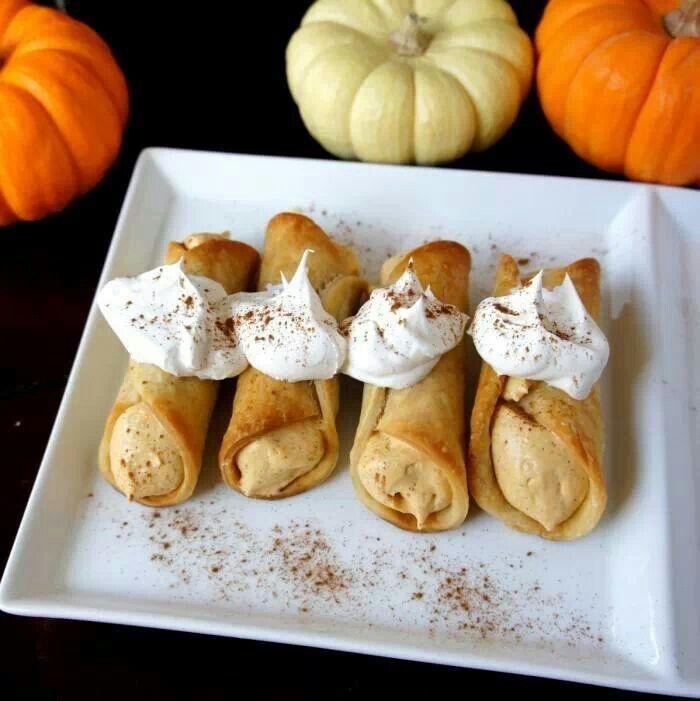Skinny Pumpkin Pie Cannoli's   Recipes..   Pinterest