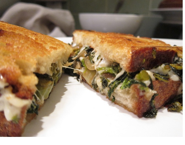 Grilled Cheese with Caramelized Broccoli Rabe and Fontina- This Tom ...