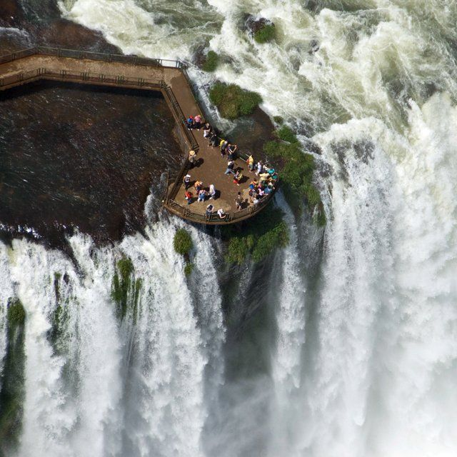 stand on this platform and experience Iguazu Falls @ Brazil
