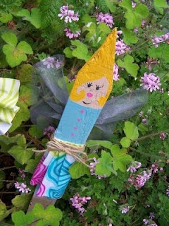 garden fairy from picket fencing