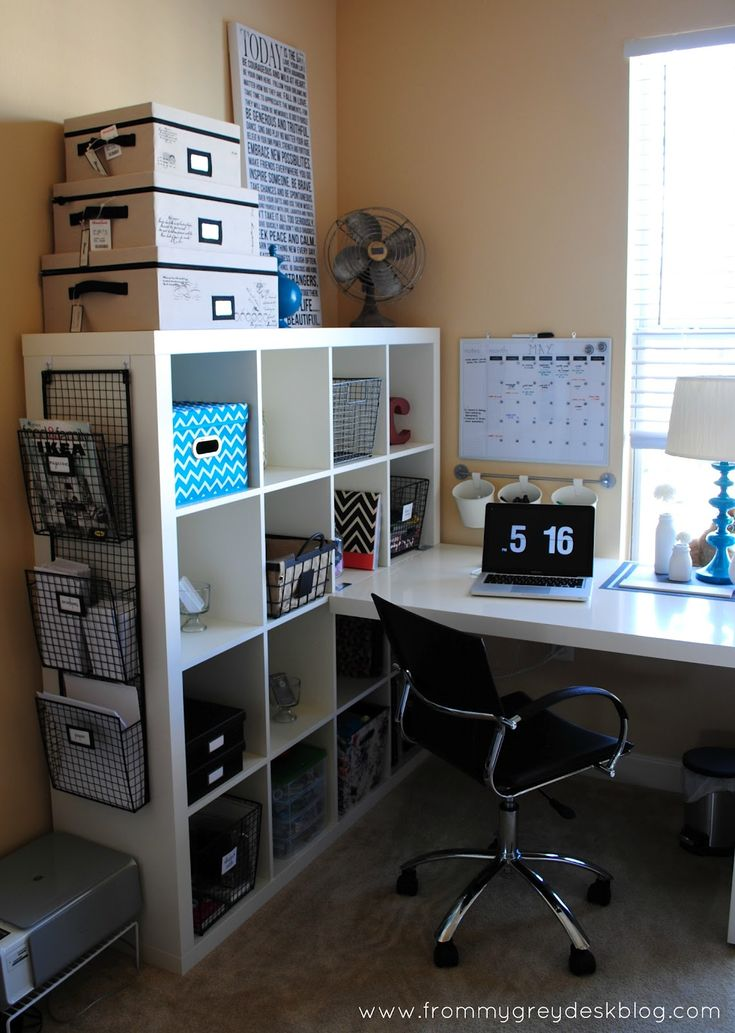 From my grey desk blog for me husband 39 s home office Gray office ideas