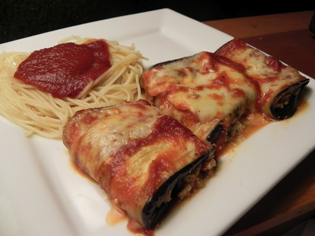 Eggplant Rollatini from The Adirondack Chick