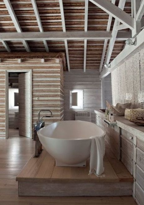 rustic contemporary bath bathrooms pinterest. Black Bedroom Furniture Sets. Home Design Ideas
