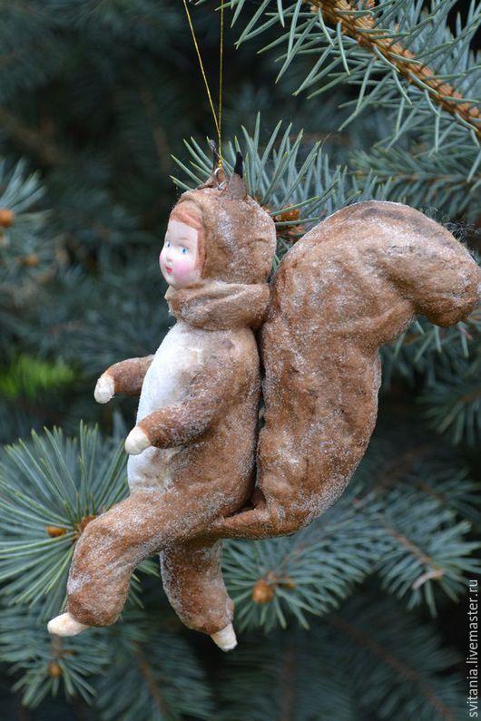 Игрушка из папье маше на елку