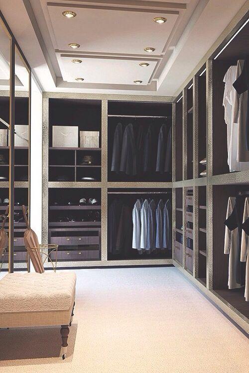 Interior walk in closet details designs colors for Walk in closet interior designs