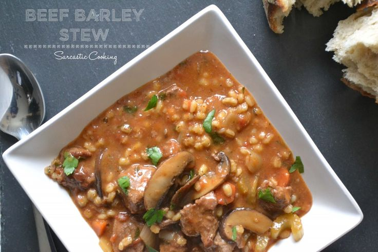 beef and barley soup rabbit stew with mushrooms beef and barley stew ...