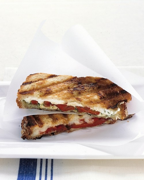 Mozzarella Sandwiches.. if you can.. make your own pesto, tapenade ...