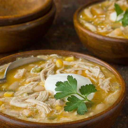 White chicken chili. I will skip the celery, change bell pepper for ...