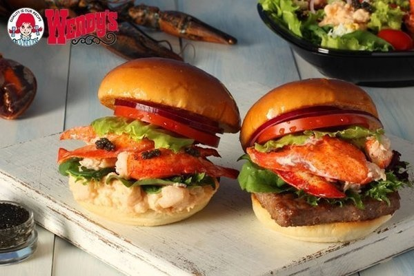 Wendy's lobster burger in Japan Wendy's is rolling out lobster and caviar sandwiches in Tokyo. (Wendy's / August 8, 2012)