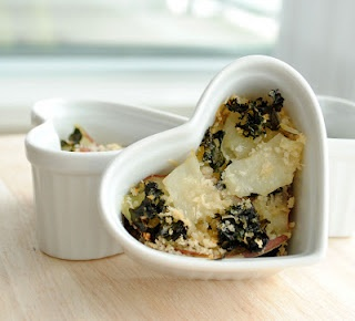Kale and potato gratin | Vegetable/Fruit recipes | Pinterest