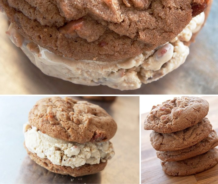 The French Toast Cookie + Whiskey Bacon Ice Cream Sandwich from www ...