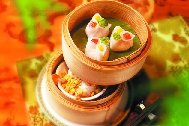 Dumplings from Lok Wah Hin Chinese Restaurant of Novotel Bangkok. 500 ...