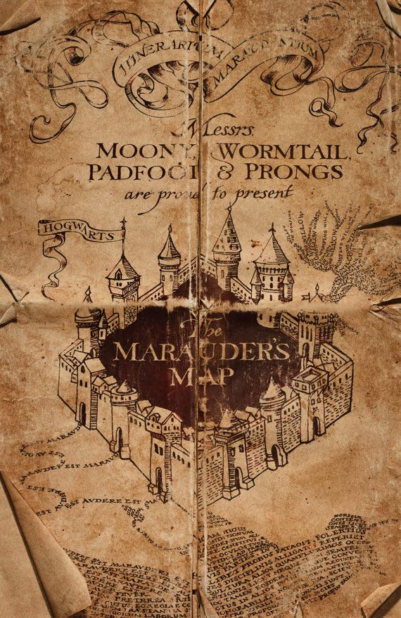Harry Potter Marauder S Map Cover Poster From Hogwarts