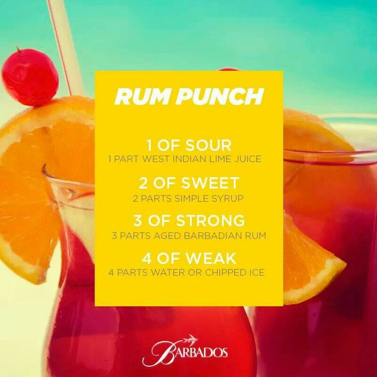 Bajan rum punch (Barbados) | Barbados | Pinterest