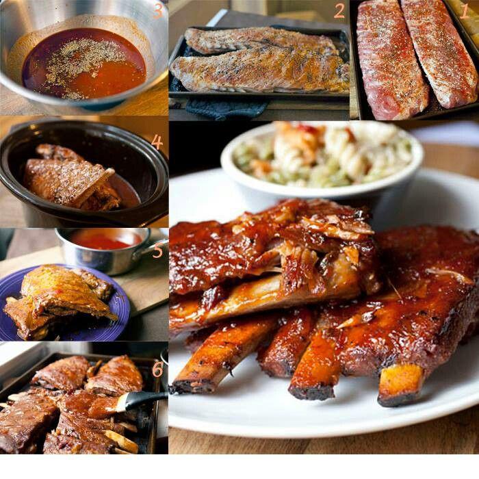 Slow cooker bbq ribs | Recipes | Pinterest