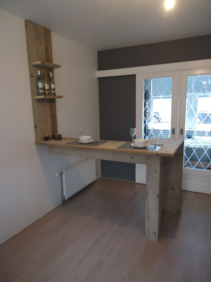 Steigerhouten Keuken Bar : steigerhout: eigen ontwerp voor een eetbar.