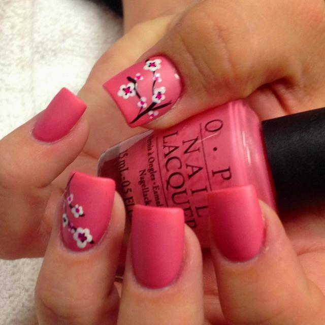 Jessica's BAM Blossom nails