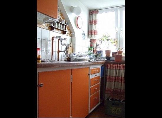 Painting kitchen cabinet doors orange  DIY Crafty  Pinterest