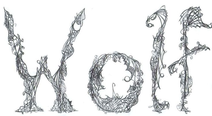 WOLF Letter Art By B4dWolf