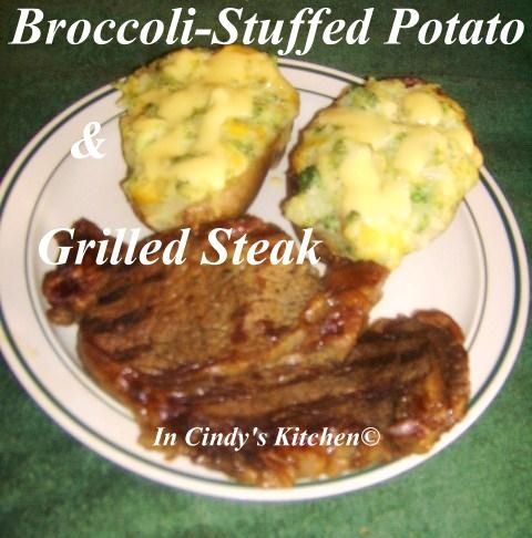 Broccoli-Stuffed Potato & Grilled Steak: A Steak & Potato Kind of ...