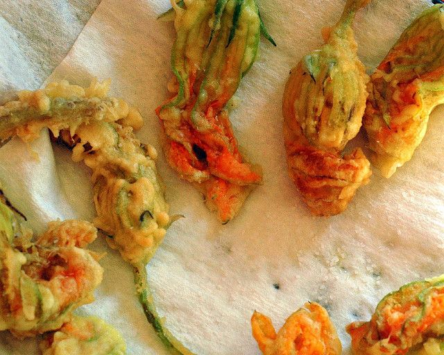 Fried zucchini blossoms. Someday I will have these.