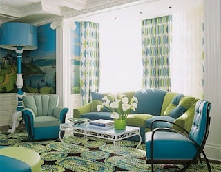 teal and green | Kitchen and family room inspiration | Pinterest