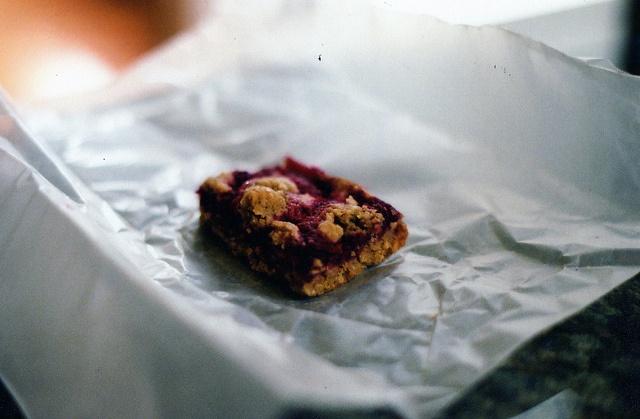 Raspberry Oatmeal Breakfast Bar. | breakfast | Pinterest