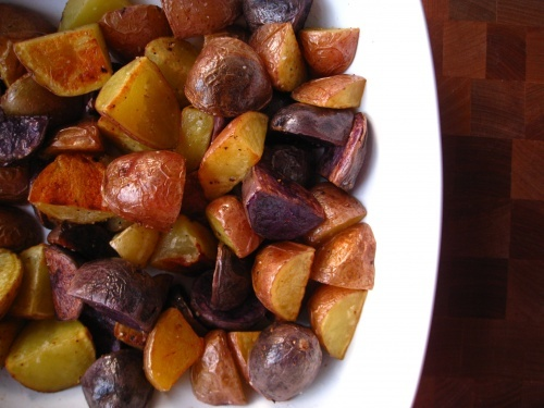 salt & vinegar roasted potatoes | Potatoes & Fries | Pinterest