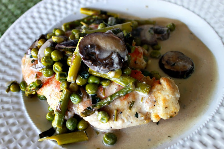 Veal Scallopine With Asparagus Recipe — Dishmaps
