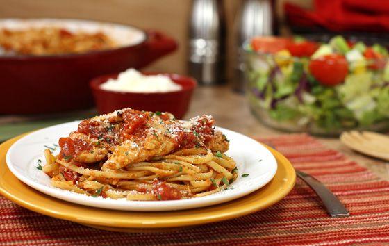 Chicken parmesan pasta toss food food food pinterest for Italian dinner